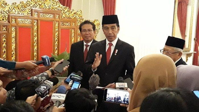 Presiden Joko Widodo (Jokowi) di Istana Negara, Jakarta, Rabu (5/2/2020).
