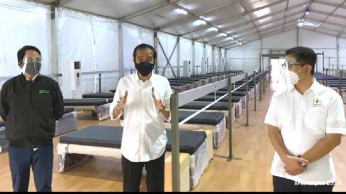 Ketua Kadin Dampingi Presiden Jokowi Tinjau Rumah Oksigen Gotong Royong