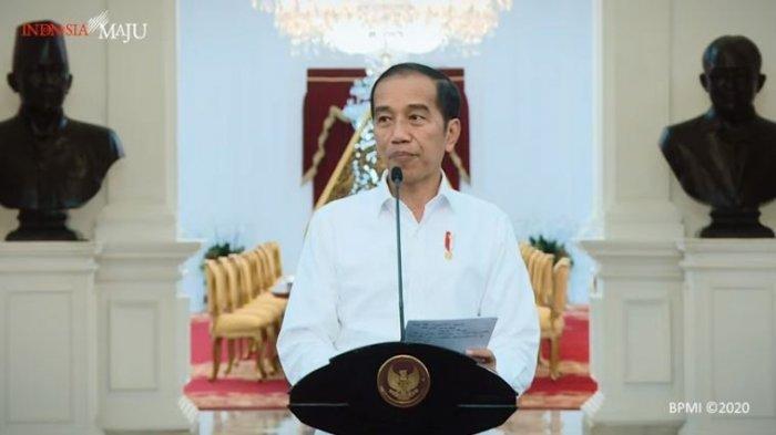 Presiden RI Joko Widodo (Jokowi), Istana Merdeka, Jakarta, pada Jumat, 20 Maret 2020 (youtube sekretariat presiden)