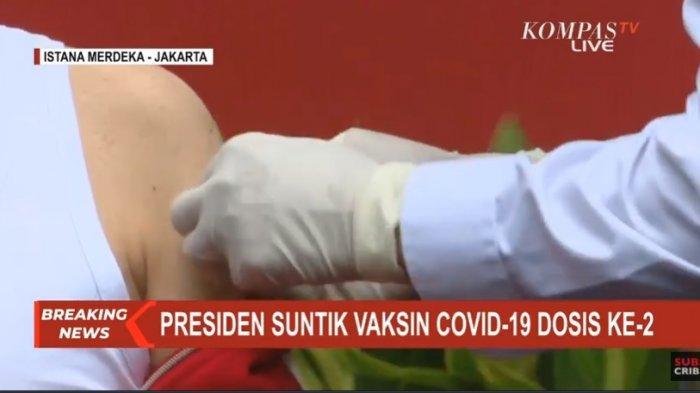 Terima Suntikan Vaksin Corona Dosis Kedua, Jokowi: Sama Seperti Dua Minggu Lalu, Tidak Terasa Sakit