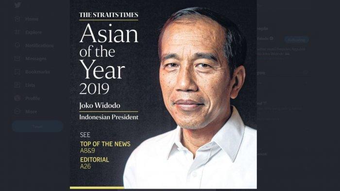Jokowi Raih Penghargaan Asian of the Year 2019, Ini Alasan The Straits Times Memilihnya