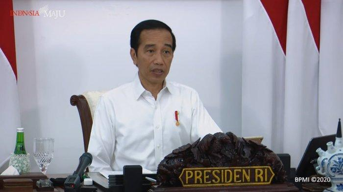 Presiden Joko Widodo (Jokowi) saat memimpin rapat terbatas 28 Mei 2020