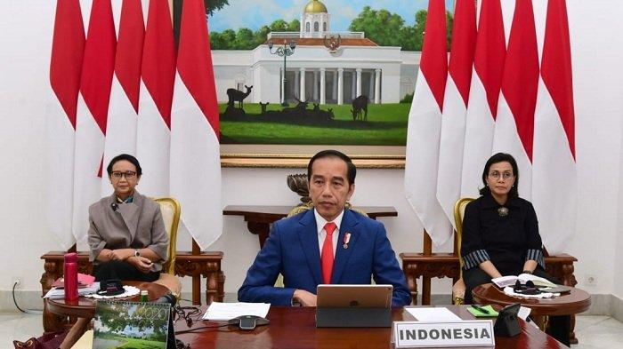 Usai Hadiri Prosesi Pemakaman Sang Ibu, Presiden Jokowi Ikuti KTT Luar Biasa G20 dari Istana Bogor