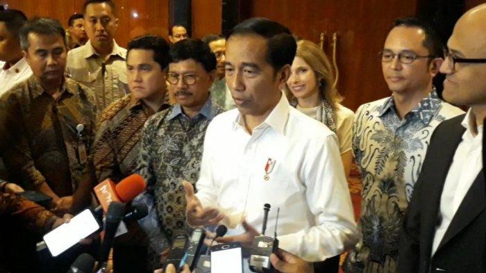 Presiden Joko Widodo (Jokowi) di The Ritz Charlton Pacific Place, Jakarta, Kamis (27/2/2020).