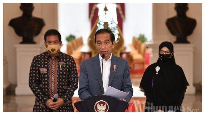 Presiden Joko Widodo menyampaikan keterangan pers di Istana Merdeka, Jakarta Pusat, Rabu (24/6/2020). Jokowi akan membubarkan 18 lembaga negara.