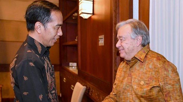 Sekjen PBB Puji Penanganan Bencana di Sulteng dan Lombok Saat Bertemu Presiden