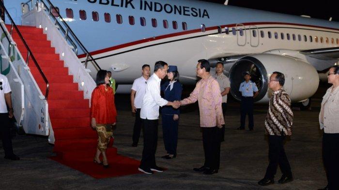 Presiden Jokowi bertolak ke Yogyakarta menggunakan Pesawat Kepresidenan Indonesia-1