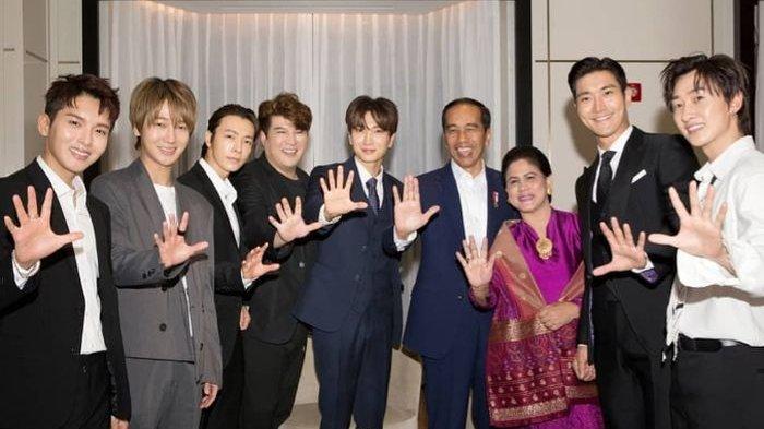 Bertandang ke Korea Selatan, Jokowi Ajak Super Junior Goyang Dayung
