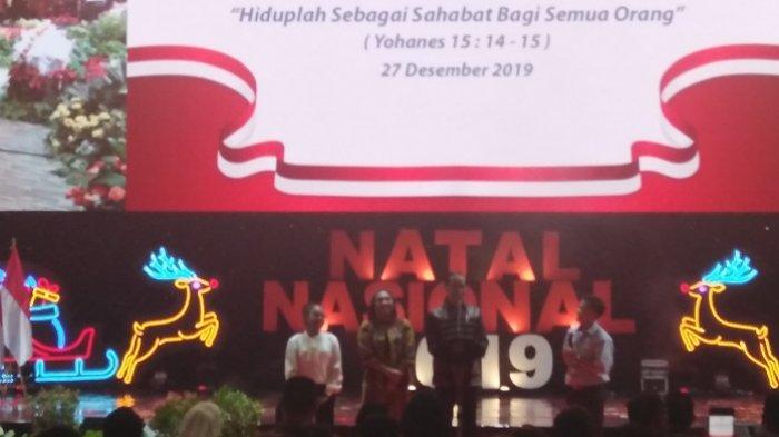 Ketika Jokowi 'Dibentak' Viorentina Wanita Asal NTT dalam Acara Natal Nasional 2019 di SICC