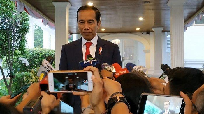 Presiden  Jokowi di Istana Merdeka, Jakarta, Senin (19/9/2019).