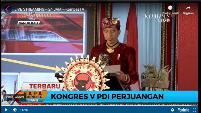 Di Kongres V PDIP, Jokowi Jamin PDIP Bakal dapat Jumlah Menteri Terbanyak di Kabinet Jokowi-Maruf