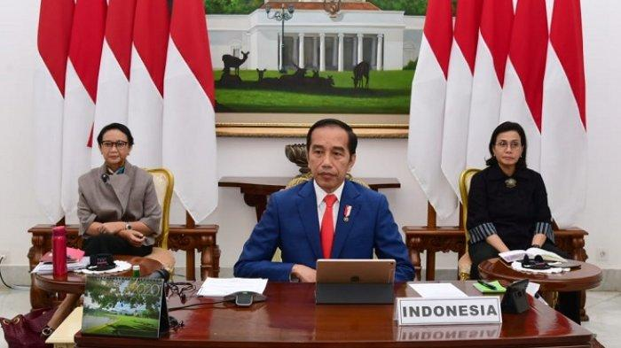 Meski Masih Berduka, Jokowi Tetap Hadiri KTT LB G20 Secara Virtual Didampingi 2 Menteri Perempuan