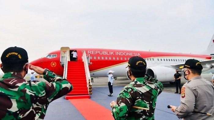 Presiden Jokowi melakukan kunjungan kerja ke Jawa Timur, Kamis (19/8/2021).