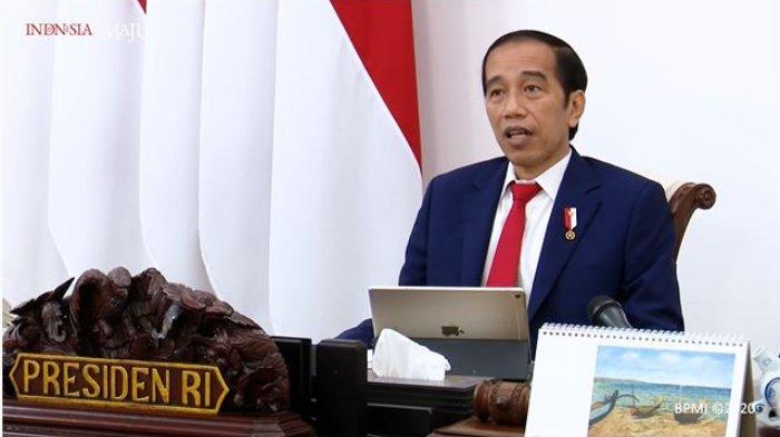 Presiden Joko Widodo menyampaikan pengantar dalam Rapat Terbatas Laporan Komite Penanganan Covid-19 dan Pemulihan Ekonomi Nasional, Senin (14/9/2020). (Tangkapan Layar YouTube Sekretariat Presiden)