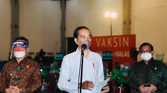 President Jokowi during the immunization review for SLB (special schools) students, in Yogyakarta Special Region (DIY), Friday (10/9/2021).
