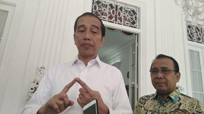 Presiden Jokowi di Gedung Agung Yogya