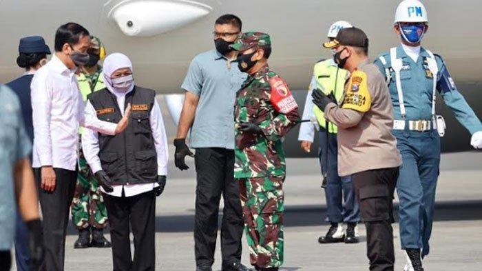 Presiden Jokowi tiba di Gedung Negara Grahadi, Kamis (25/6/2020) siang.
