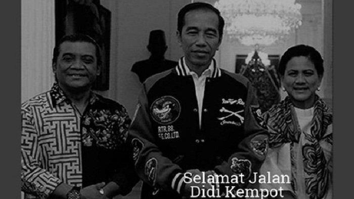 Presiden Jokowi turut berduka atas meninggalnya Didi Kempot.