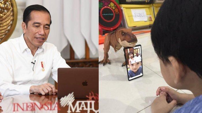 Video Call Jadi Obat Rindu Pada Jan Ethes dan Sedah Mirah, Jokowi:Mbah Kangen Tapi Belum Bisa Ketemu