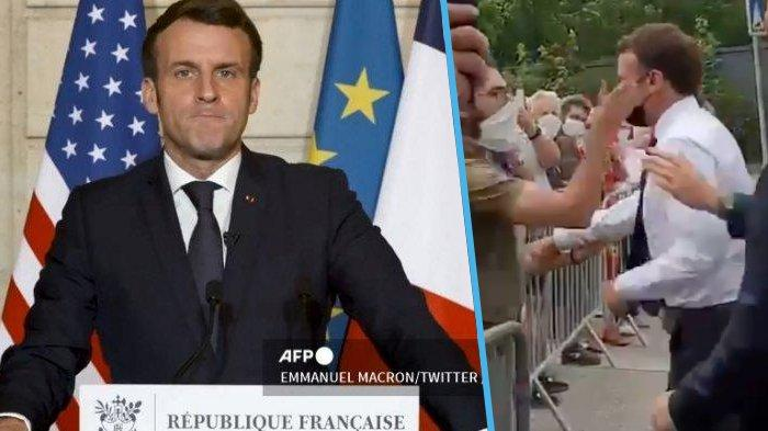 Penampar Presiden Prancis <a href='https://manado.tribunnews.com/tag/emmanuel-macron' title='EmmanuelMacron'>EmmanuelMacron</a> Terancam Penjara Tiga Tahun dan Denda Rp 770 Juta