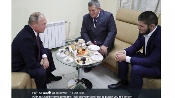 Pemerintah Rusia Diminta Angkat Khabib Jadi Pahlawan Negara, Orang Ini Tak Setuju