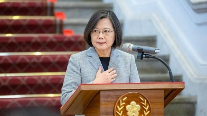 Presiden Taiwan Tsai Ing-wen. Kementerian Luar Negeri Taiwan mengumumkan, pemerintah akan meluncurkan desain ulang paspor pada awal tahun depan.