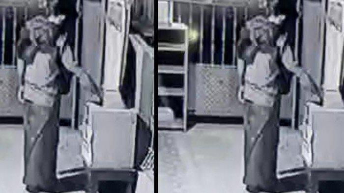 Pria Bersarung Nekat Bobol Kotak Amal di Masjid saat Sepertiga Malam, Aksinya Terekam Kamera CCTV