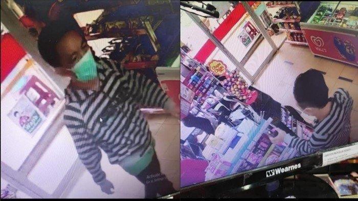 Seorang Pria Tertangkap Kamera Sedang Curi Lipstik di Minimarket Kota Palembang