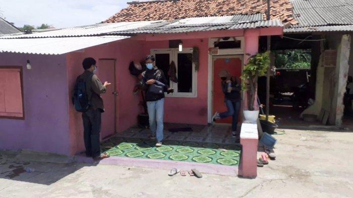 Rumah lokasi pria gondrong pengganda uang RT 01 RW 03, Kelurahan Bahagia, Kecamatan Babelan, Kabupaten Bekasi, pada Senin (22/3/2021).