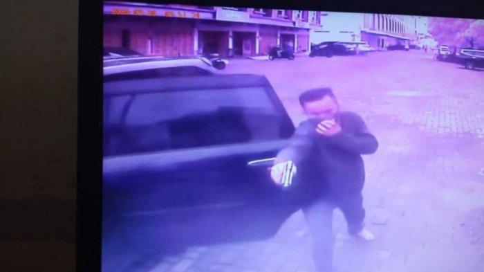 Maling Ban Serep Todongkan Pistol ke Sekuriti sampai Korban Trauma, Aksi Terekam CCTV
