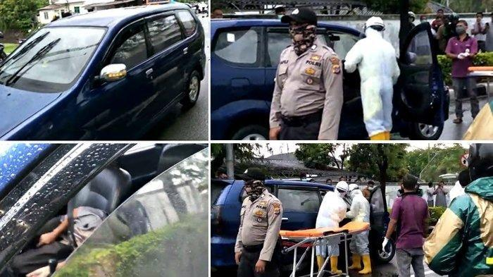Seorang pria ditemukan meninggal dalam mobil Avanza yang dikendarainya, di Jalan Sultan Iskandar Muda kawasan Suka Ramai, Kecamatan Baiturrahman (kawasan Blang Padang), Kota Banda Aceh, Senin (6/4/2020).