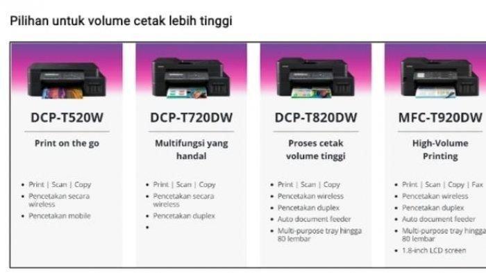 printer Brother Refill Ink Tank Printer: Volume Cetak Lebih Tinggi, Harga Lebih Ekonomis!