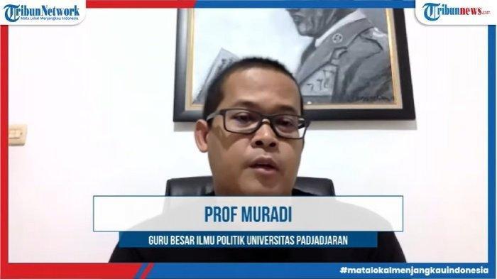 Prof Muradi Guru Besar Universitas Padjajaran saat forum Beranda Ruang Diskusi, Rabu (21/1/2021)