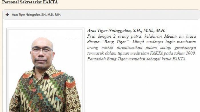 Profil Azas Tigor Nainggolan di laman Fakta