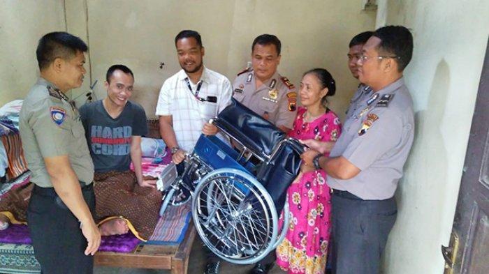 Yogi Lumpuh Selama 3 Tahun akibat Jatuh dari Lantai 7,Kini Terima Bantuan Kursi Roda
