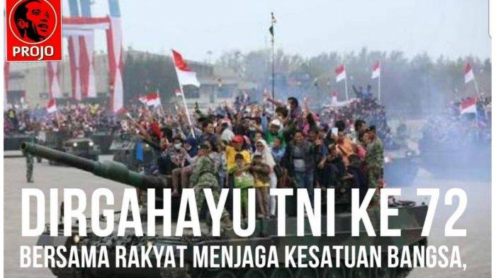 Projo: Menyeret TNI Berpolitik, Berbahaya bagi Keutuhan NKRI