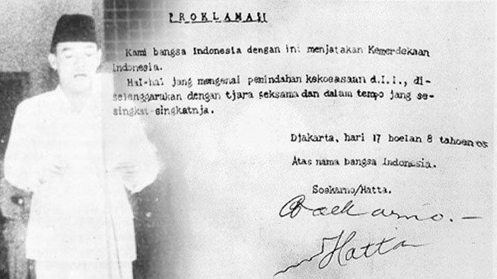 Naskah Asli Teks Proklamasi Tulisan Tangan Bung Karno Dihadirkan dalam Upacara HUT ke-76 RI