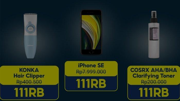 Promo 11 11 Shopee Flash Sale Iphone Se Hanya Rp 111 Ribu Catat Jadwal Promo Puncak Berikut Tribunnews Com Mobile