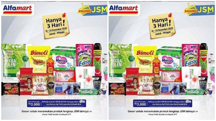 Promo JSM Alfamart Periode 18 - 20 Desember 2020: Bayar Pakai GoPay dan ShopeePay Lebih Murah