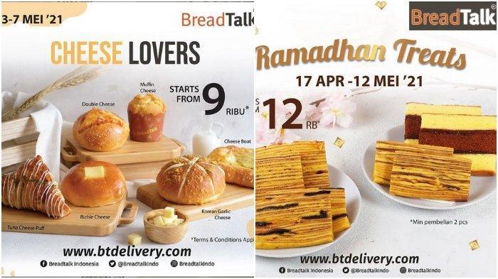 Promo BreadTalk Cheese Lovers, Harga Mulai Rp 9.000 Berlaku 3-7 Mei 2021