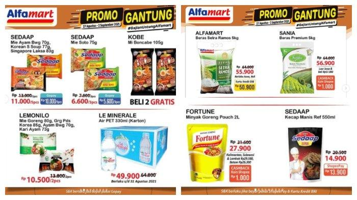 Promo Alfamart 1 September 2021: Harga Beras 5 Kg Rp 56.900, Mie Instan Rp 11.000/5pcs