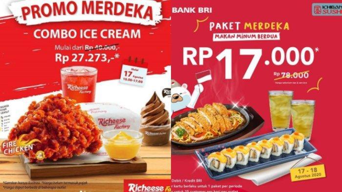 Promo Hari Kemerdekaan ke-75 RI: Richeese, Ichiban Sushi, HokBen, Chatime, hingga KFC