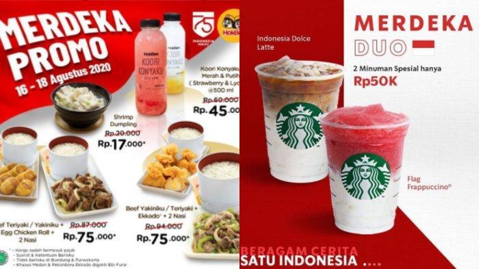 Promo Hari Kemerdekaan ke-75 RI, Mulai dari HokBen, Chatime, STARBUCKS, MCD, hingga KFC
