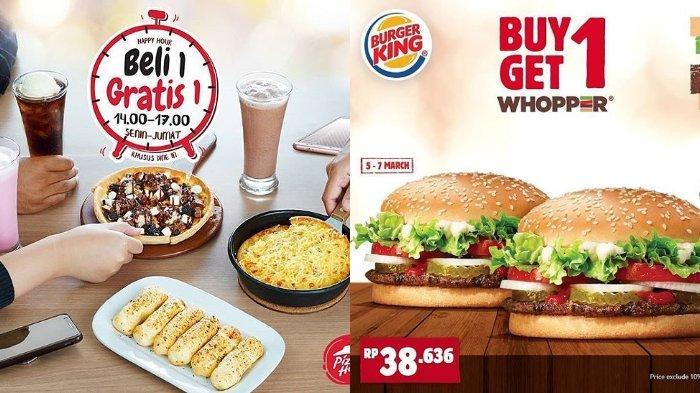 Promo Hari Raya Nyepi - Nikmati Buy 1 Get 1 di Pizza Hut dan Burger King, Diskon 50 % di HokBen