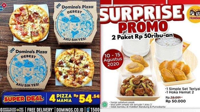 Promo HUT RI 2020: Pizza Hut Rp 17, Burger King Mulai Rp 5 Ribu, Dominos Pizza hingga HokBen
