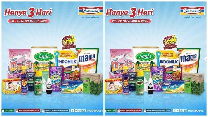 Katalog Promo Hanya 3 Hari Indomaret 20-22 November: Segitiga Biru 1 Kg Rp 8.500 dengan Link Aja
