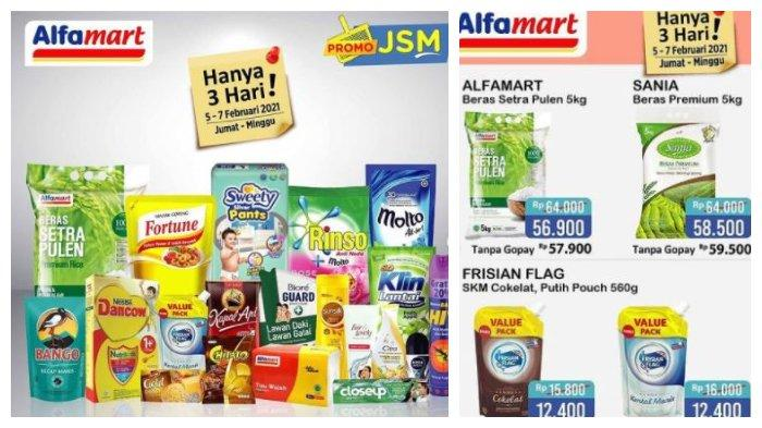 Promo JSM Alfamart Hari Ini, 7 Februari 2021, Nikmati Diskon Akhir Pekan, Beras 5 Kg Rp 56.900