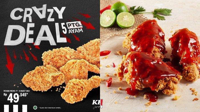 Promo KFC Hari Ini, Crazy Deal Cuma Rp 49 Ribuan Dapat 5 Potong Ayam Krispy