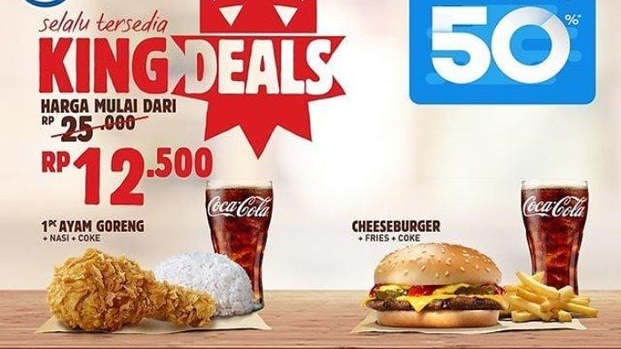Promo Hari Ini Kamis 21 November 2019, Nikmati Paket Burger King Hanya Rp 12 Ribuan Pakai DANA
