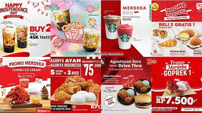 Promo Makanan dan Minuman 17 Agustus 2020: Mulai KFC, Richeese Factory, McDonald's hingga Starbucks